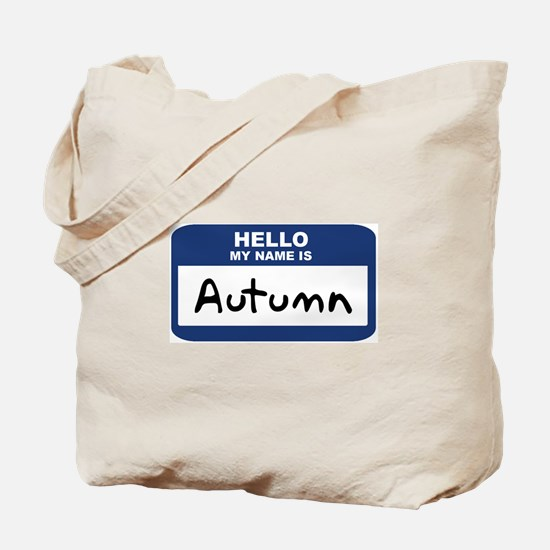 Hello: Autumn Tote Bag