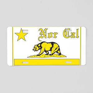 nor cal bear yellow Aluminum License Plate