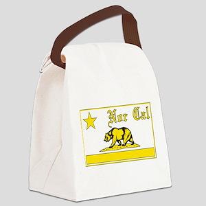nor cal bear yellow Canvas Lunch Bag