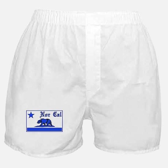 nor cal bear blue Boxer Shorts