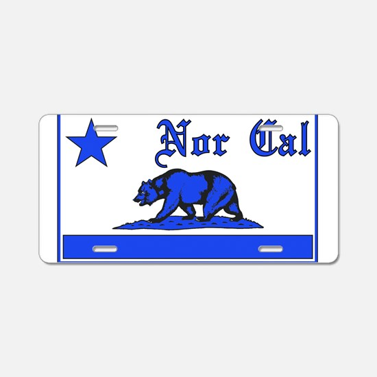 nor cal bear blue Aluminum License Plate