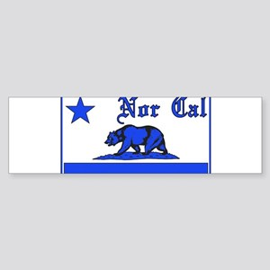 nor cal bear blue Bumper Sticker