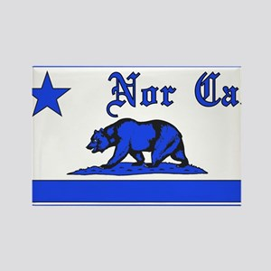 nor cal bear blue Rectangle Magnet