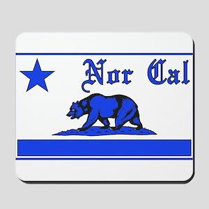 nor cal bear blue Mousepad