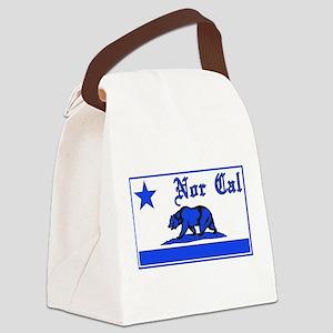 nor cal bear blue Canvas Lunch Bag