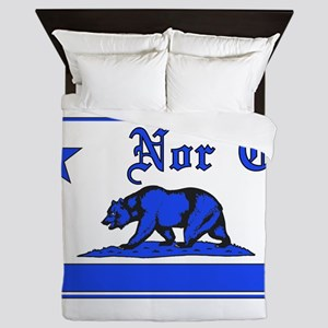 nor cal bear blue Queen Duvet