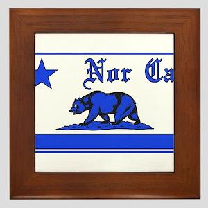 nor cal bear blue Framed Tile