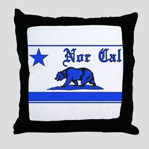 nor cal bear blue Throw Pillow