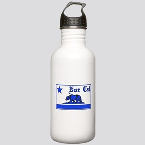 nor cal bear blue Water Bottle