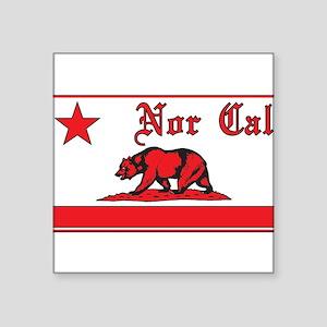 nor cal bear red Sticker