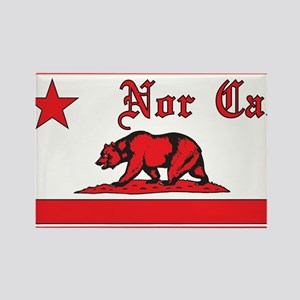 nor cal bear red Rectangle Magnet