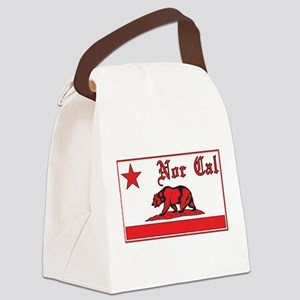 nor cal bear red Canvas Lunch Bag