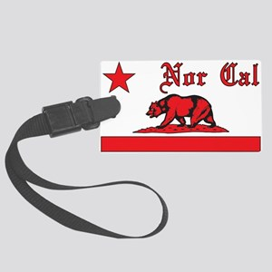 nor cal bear red Luggage Tag