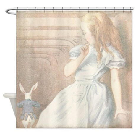 Alice in Wonderland Shower Curtain