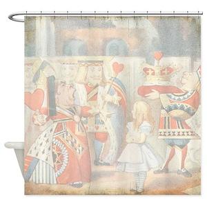 Alice Wonderland Shower Curtains