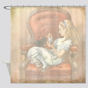 Alice in Wonderland Alice in Chair Shower Curtain
