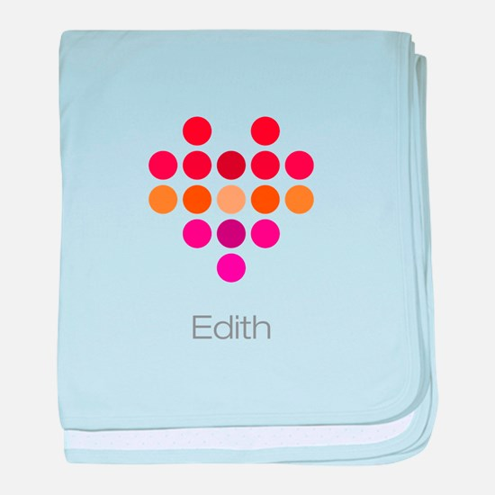 I Heart Edith baby blanket