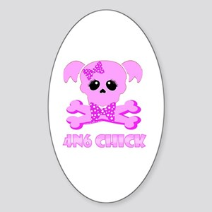 NCIS Abby 4N6 Chick Sticker (Oval)