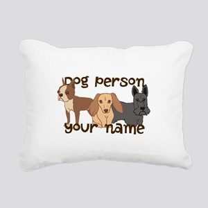 Custom Personalized Dog Person Rectangular Canvas