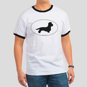 DD Terrier Silhouette Ringer T