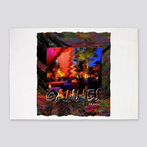 cannes france art illustration 5'x7'Area Rug