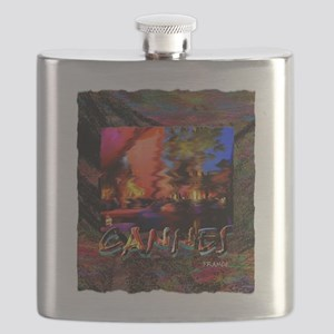 cannes france art illustration Flask