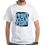 Fight The Fight Prostate Cancer White T-Shirt