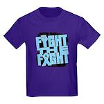 Fight The Fight Prostate Cancer Kids Dark T-Shirt