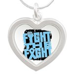 Fight The Fight Prostate Cancer Silver Heart Neckl