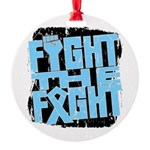 Fight The Fight Prostate Cancer Round Ornament