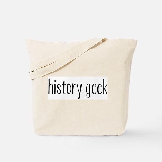 History Geek Tote Bag