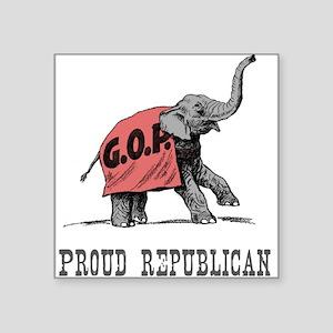 Proud Republican Rectangle Sticker
