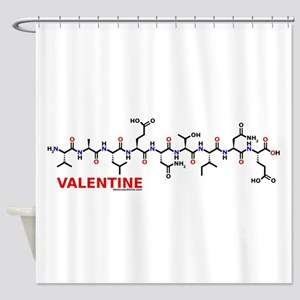 Valentine molecularshirts.com Shower Curtain