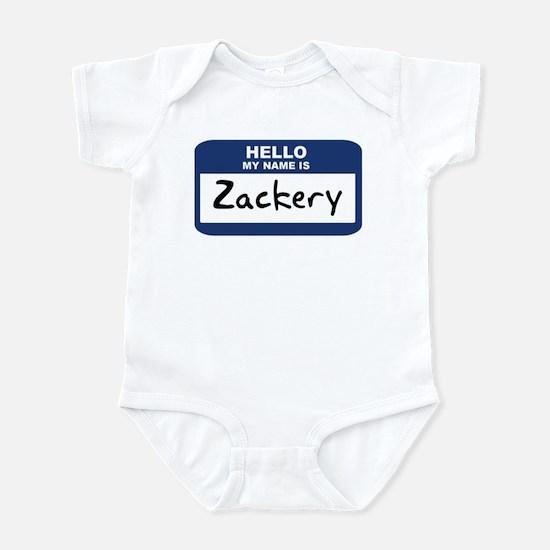 Hello: Zackery Infant Bodysuit