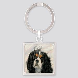King Charles Cavalier Spaniel Square Keychain
