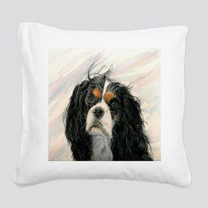King Charles Cavalier Spaniel Square Canvas Pillow