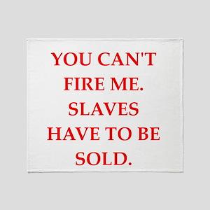 slaves Throw Blanket