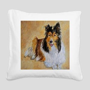 Lenny the Shetland Sheepdog Square Canvas Pillow