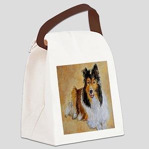 Lenny the Shetland Sheepdog Canvas Lunch Bag