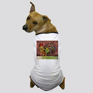 Rooster by the Barn Dog T-Shirt