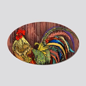 Rooster by the Barn Wall Decal