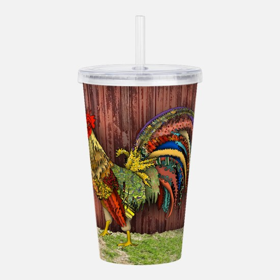 Rooster by the Barn Acrylic Double-wall Tumbler