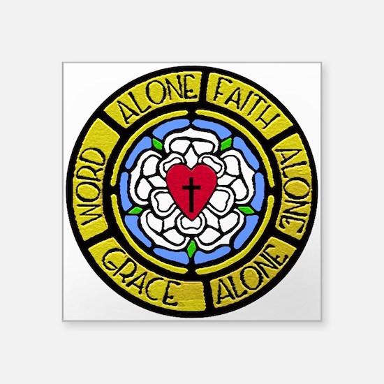 "Grace Faith Word Square Sticker 3"" x 3"""