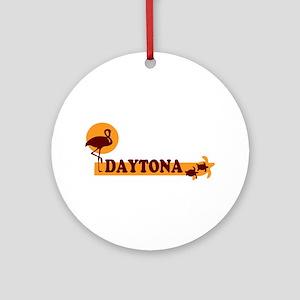 Daytona Beach - Beach Design. Ornament (Round)