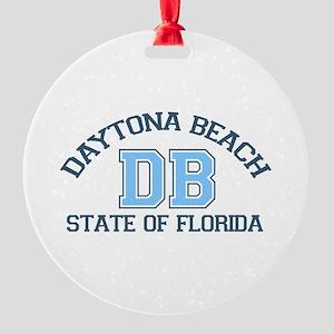 Daytona Beach - Varsity Design. Round Ornament