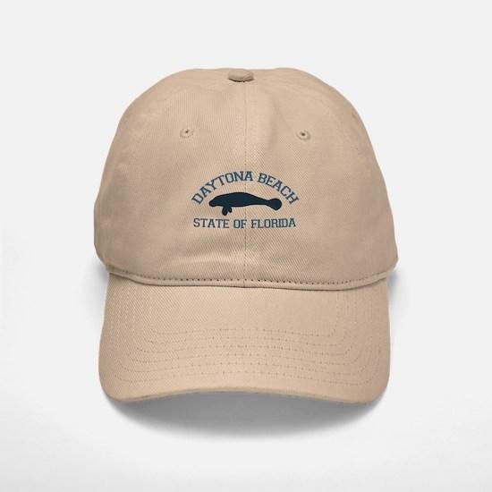 Daytona Beach - Manatee Design. Baseball Baseball Cap