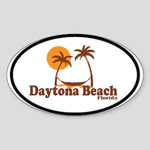 Daytona Beach - Palm Trees Design. Sticker (Oval)