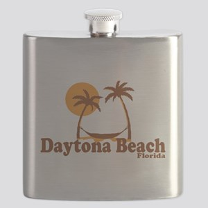 Daytona Beach - Palm Trees Design. Flask