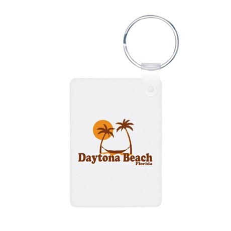 Daytona Beach - Palm Trees Design. Aluminum Photo