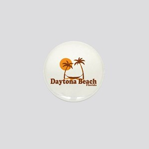 Daytona Beach - Palm Trees Design. Mini Button